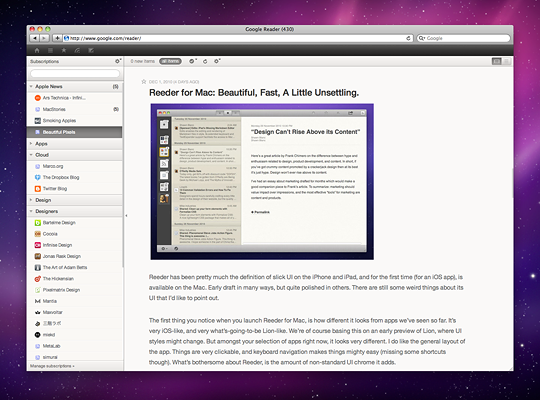 reeder for firefox